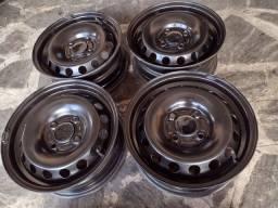Rodas de ferro semi-nova 14 originais da Ford (450 em 3× no cartão s/ juros)