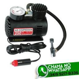 Mini Compressor de Ar Veicular 12v