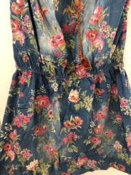 Vestido jeans floral - romântico