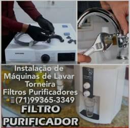 Instalação de Máquina de lavar lava e seca Coifa Purificadores