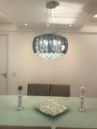Lustre Pendente de vidro e cristal e LED