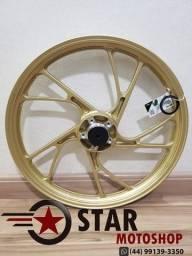 Rodas da Titan Pé de Galinha (Scud) 150/ FAN 150 - S/Câmara - ESD - COR: Dourada