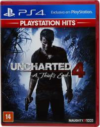 Uncharted 4 A Thief's End - Jogo de Playstation 4