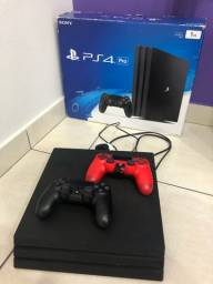 Troco por notebook PS4 Pro + 2 controles