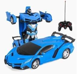 Carrinho Que Vira Robô Com Controle Remoto Sem Fio Transform