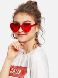 Óculos coração vermelho Novo