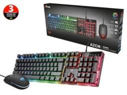 kit teclado e mouse trust (113446-6) 23289 gxt-83 azor iluminado mult com mouse 3200dpi