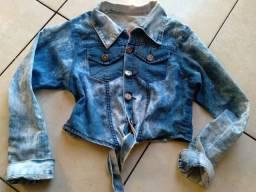 Cropped jeans tamanho M entrego