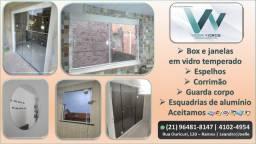 serviço de vidraçaria
