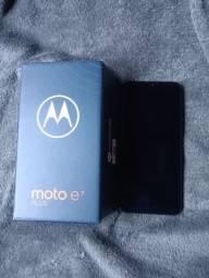 E7 plus bronze 64G 4ram caixa, acessórios, capinha e celular com película
