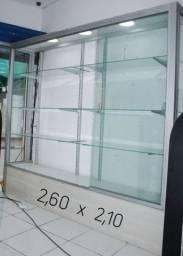 Vitrine de vidro usada