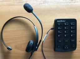 Telefone IntelBras Headset com Base Discadora