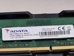 Título do anúncio: Memoria DDR4 4G notebook