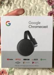 Chrome cast 3, 4K, Novo lacrado.