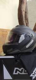 Capacete NoRisk Escamoteável com viseira TOP