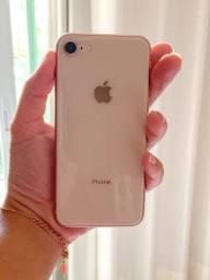 IPhone 8 128gb gold semi novo com nota fiscal