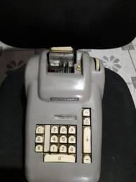 maquina calculadora antiga colecionador burroughs travada