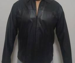 Jaqueta de couro masculina gg