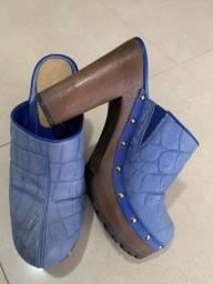 Tamanco azul croco 37