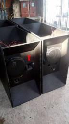 4 caixas de som LEÁC'S usadas em bom estado