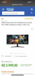 Monitor 34 Ultrawide Curvo 1ms / 144hz