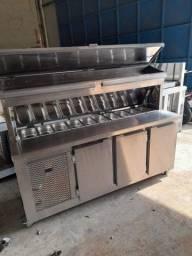 Condimentadora Refrigerada balcão Inox sob medida