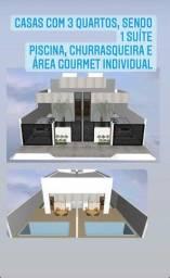 No Cristo, casa nova, 3 qts. + piscina com área gourmet!