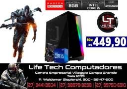 Computador Gamer Core i5 10º geração | 8GB DDr4 | SSD 240GB | Rx 550 4GB