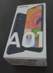 Vendo Samsung Galaxy A01 Preto (NF e LACRADO)