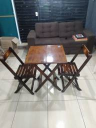 Mesa madeira e 2 Cadeiras