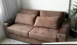 Sofa retratil 2 lugares com 4 almofadas