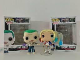 Kit Coleção Funko Pop Joker e Harley Quinn DC Suicide Squad