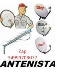 Apontamento  e  Instalação de Antenas