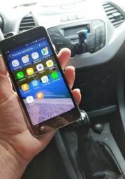 Celular Samsung j2 Prime dourado 16 gigas ; impecável