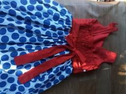Vestido festa infantil Tam 10