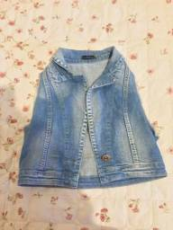 Colete jeans curto