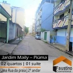 Excelente apto no Jardim Maily, 02 quartos (01 suíte) mobiliado, à 01 Rua da praia!
