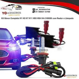 Título do anúncio: Kit Xênon Completo H1 H3 H7 H11 HB3 HB4 H4-2 8000K com Reator e Lâmpada