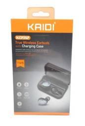 Fone De Ouvido Bluetooth 5.0 e Estojo Para Recarga Kaidi Kd912 Original Novo Lacrado