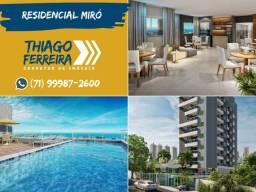 Residencial Miró, lançamento de 1 quarto, nascente, vista mar no Rio Vermelho