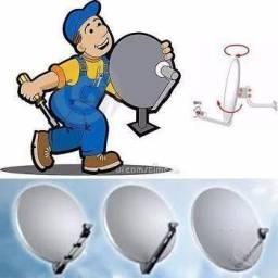 Apontamento de antenas e configuração de receptores