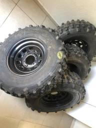 Jogo de rodas e pneus Mamute
