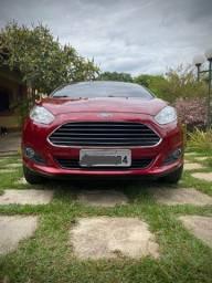 Ford Fiesta Titanium 1.6 Automático - Vermelho Perolizado
