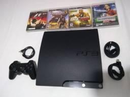 PS3 SLIM 11 jogos! Aceito cartão