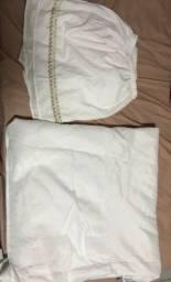 Duas saias pra cama box solteiro