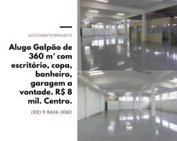 Alugo este Galpão de 360 m² no Centro