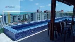 Apartamento à venda com 2 dormitórios em Cabo branco, João pessoa cod:14910