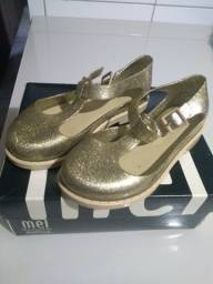 Sandália Melissa dourada