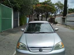 Honda Civic  ex 1.7, cor prata, completo, gasolina e gnv. revisado.