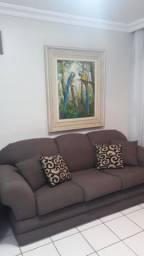 Sofá de 2 e 3 lugares com almofadas